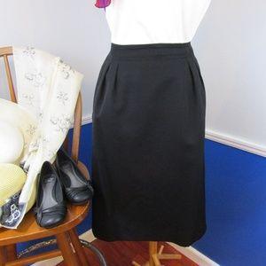 Classic Liz Claiborne Black A-Line Skirt